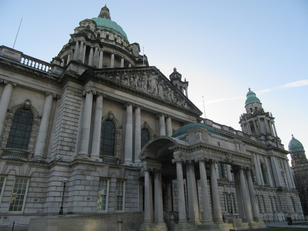 Belfast City Hall's Baroque exterior.