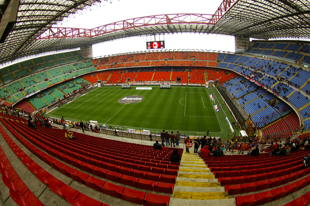 Inside the Giuseppe Meazza Stadium. Image credit:  Gilbert Sopakuwa /Flickr