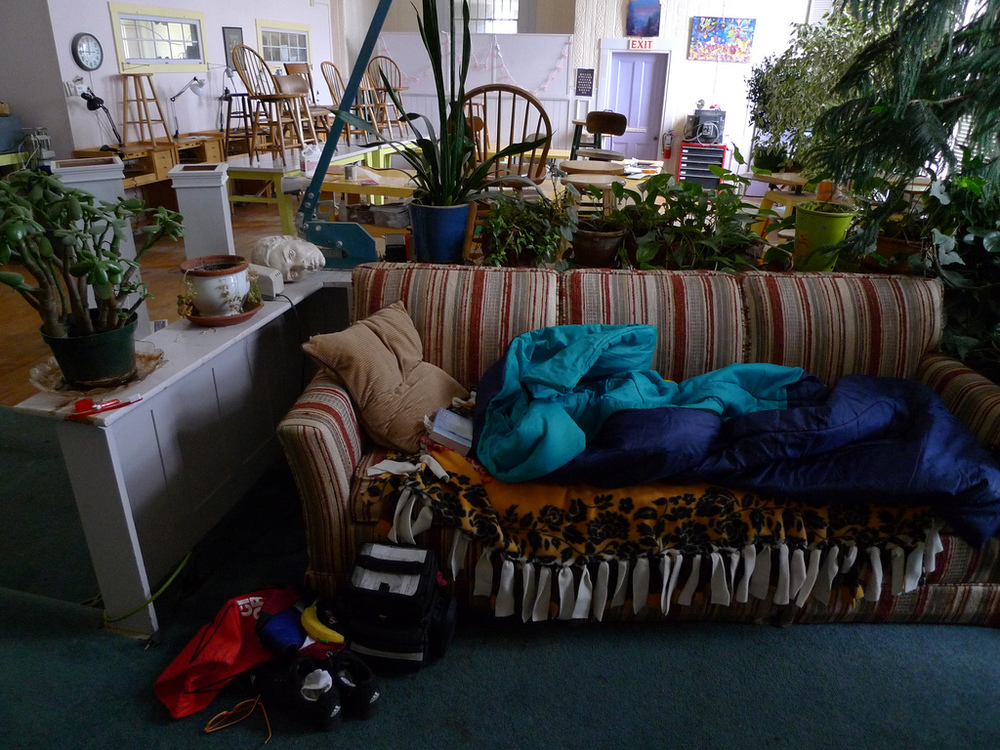 A couch and someone else's place - the basic essence of couch surfing. Image credit:    Christine   /Flickr