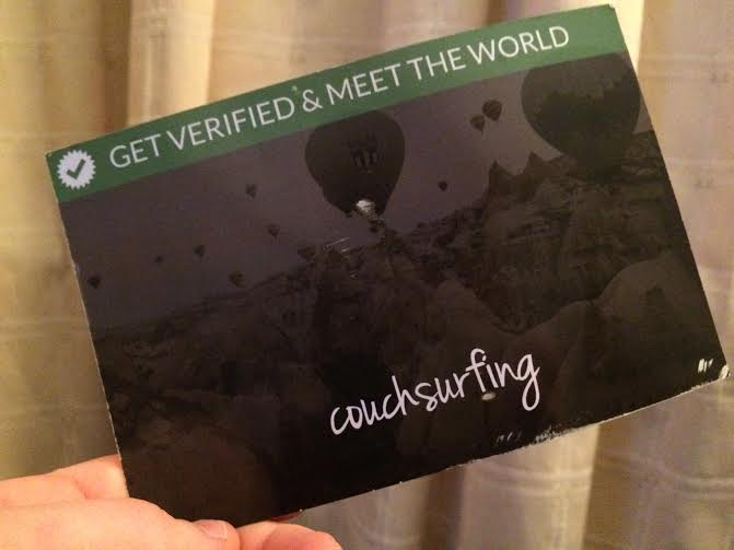 The postcard Couchsurfing send their users in order to verify their address. The postcard has a code on the back which you then submit on the website.