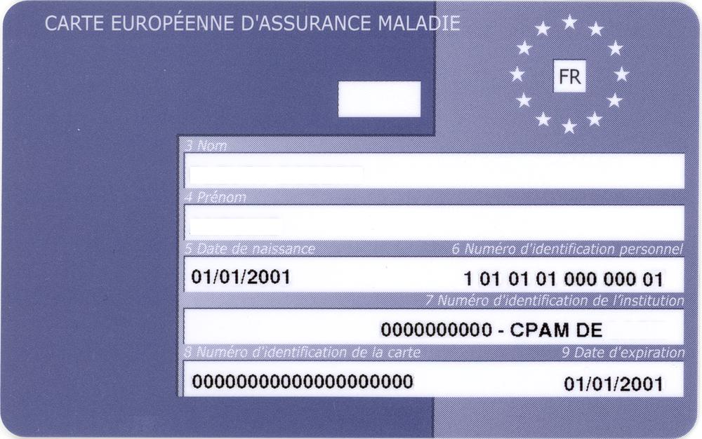A French EHIC card. Image credit:    Zeugma fr   /Wikimedia Commons