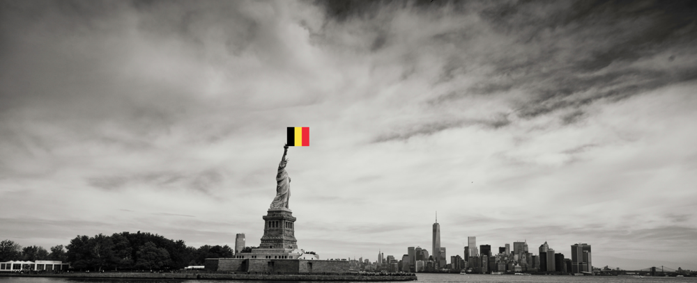 Statue-Liberty-Belgium-Flag-New-York-City