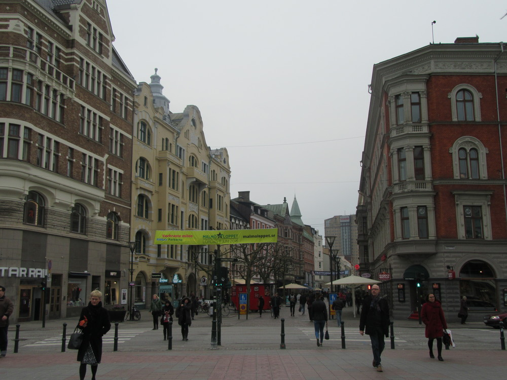 One of Malmö's busiest streets in the middle of a Monday afternoon.