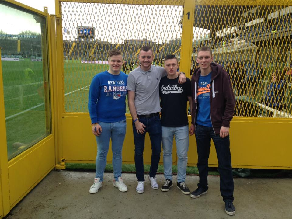 Only four of us got into the Stadio Atleti Azzurri d'Italia, home of Atalanta BC.
