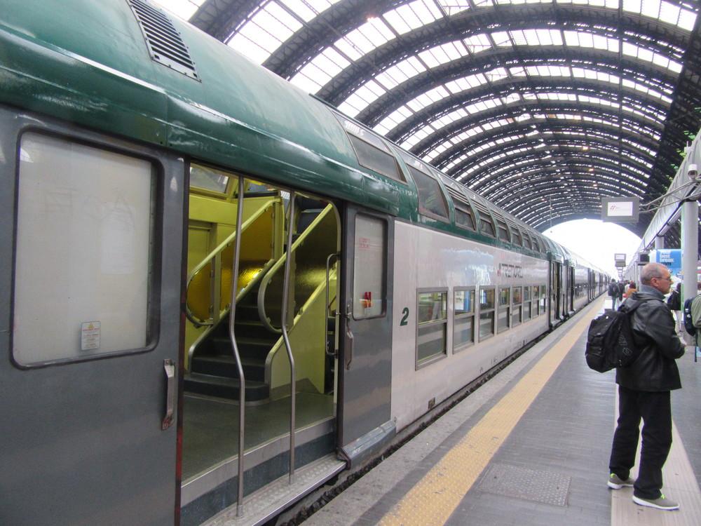 Our chariot to Bergamo - a double-decker train.
