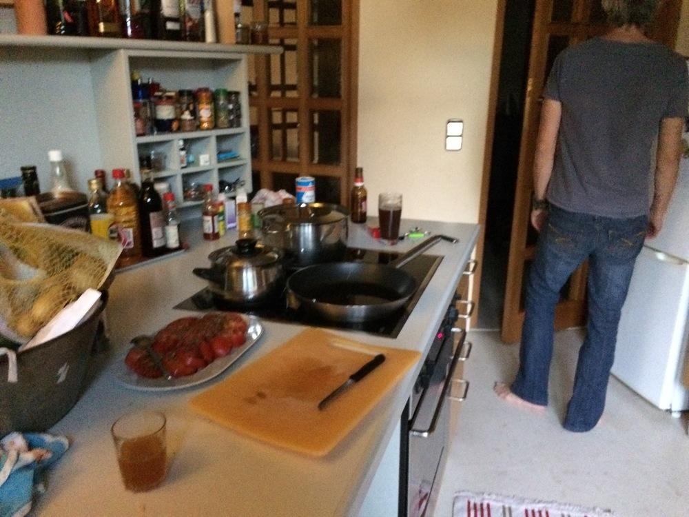 A sneak-peek of the kitchen, featuring Marc.