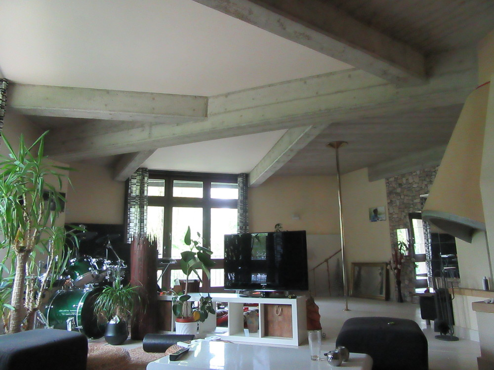 Another view of the living room cum recording studio.