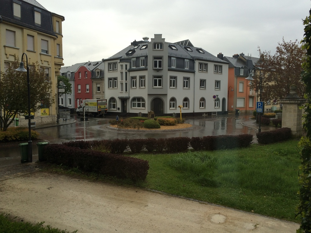 Awaking to a rainy Tuesday morning in Bettembourg, Luxembourg.