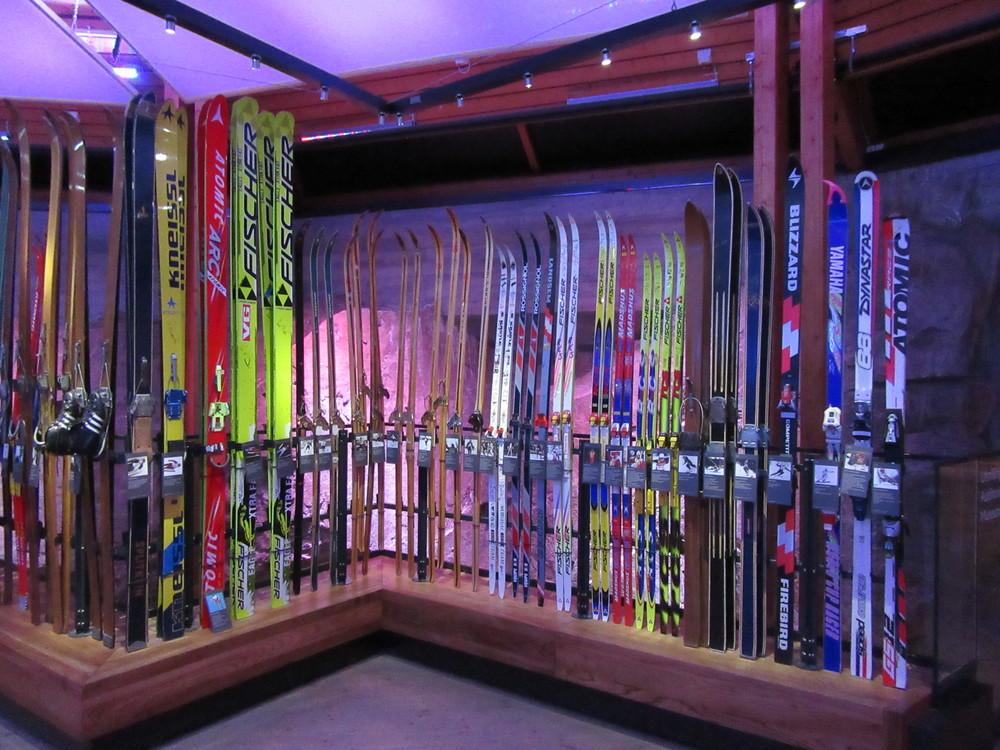 Inside the ski museum.