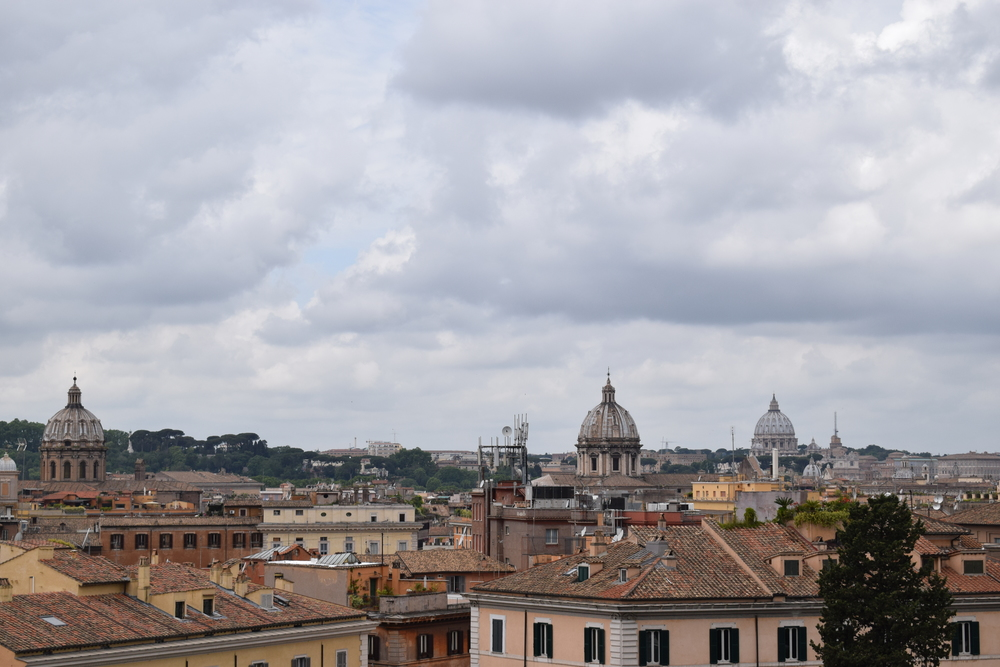 Rome has maintained a low-lying landscape.