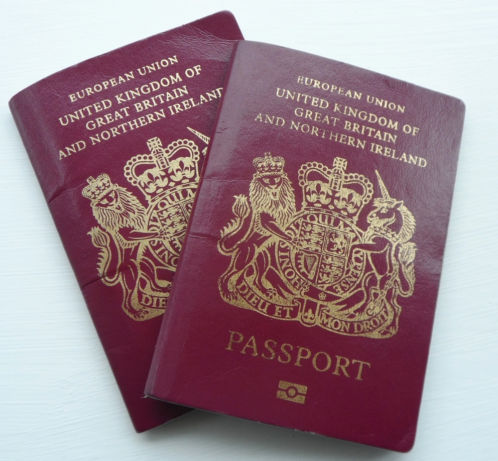 UK passports are now outdated, with the words 'European Union' written across the top of them. Image credit: Karen Byran/Flickr