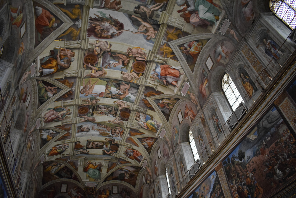 The roof of the Sistine Chapel - snapped a few seconds prior to getting reprimanded.