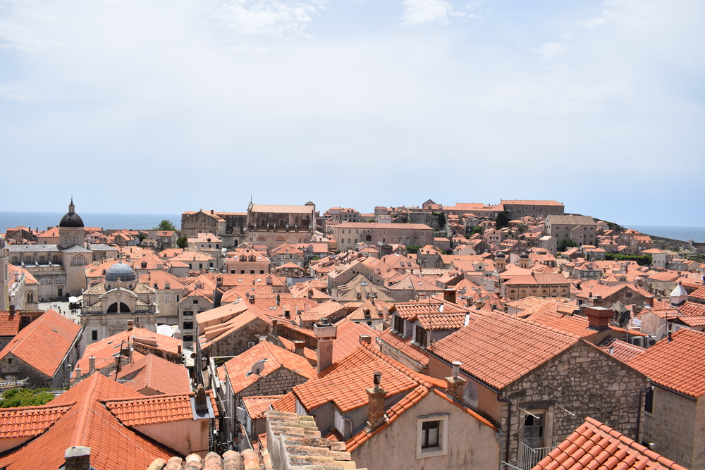 Looking out over Old Town Dubrovnik from the city walls.
