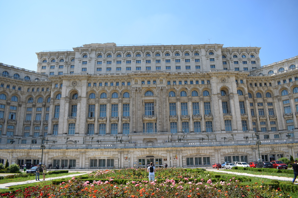 Palace of the Parliament in Bucharest, Romania - the world's third-largest building by area.