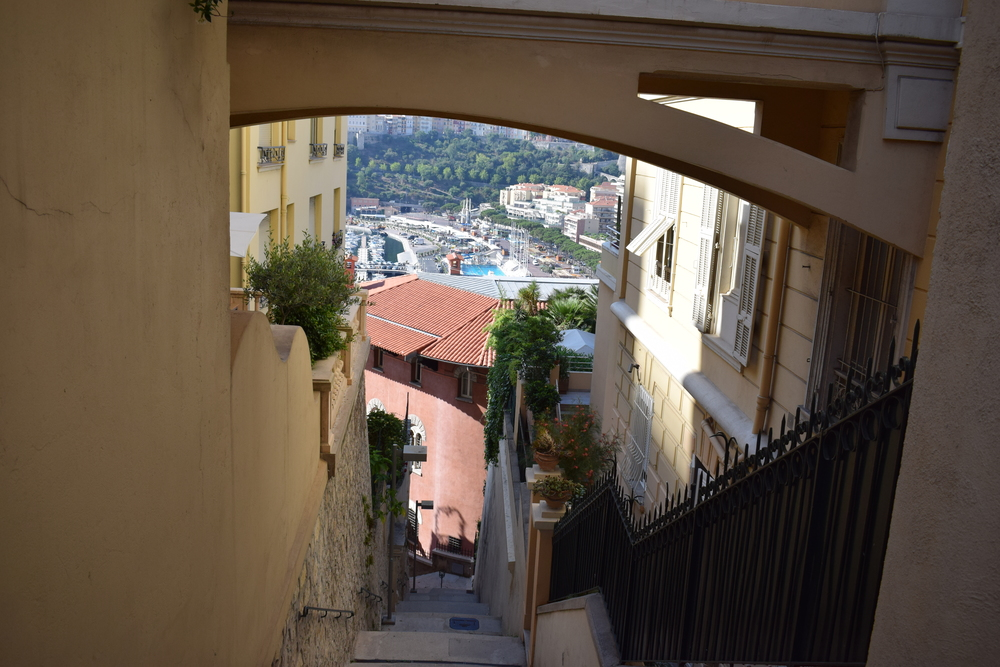 One of the alleyways that helped get me from Monaco-Monte-Carlo train station to Monte-Carlo Harbour.