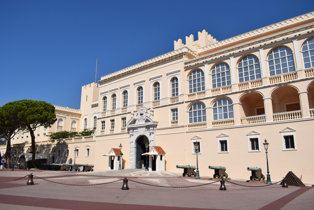 The outside of Prince Albert's palace - where it is safe for photographers to snap some pics.