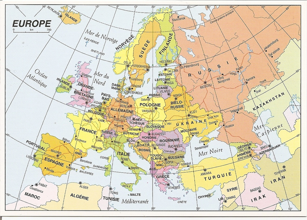A postcard map of Europe. Image credit: Roos Postcards/Creative Commons