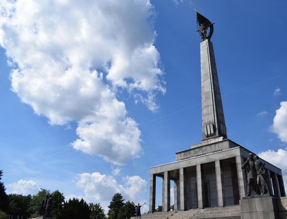 Slavin memorial under the blue skies of Bratislava.