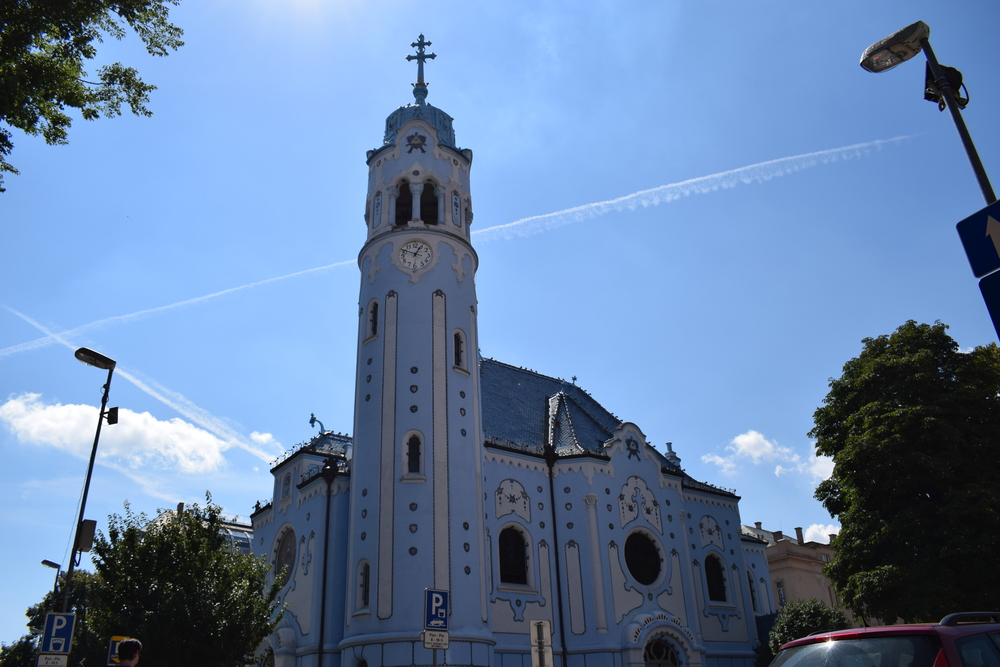 The Blue Church is also known as the Church of St Elisabet, who was believed to have been born in Bratislava Castle.