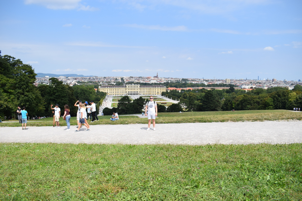 The view from the hill on which Gloriette stands.