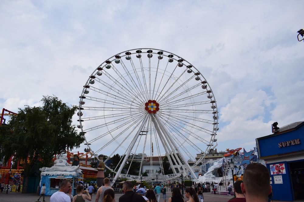 The ferris wheel that we rode.