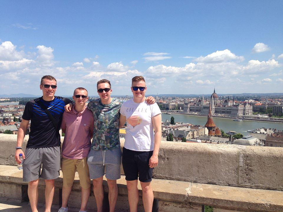 The four of us in Budapest last year. Adam's on the far left, then it's Tom, Tom and, finally, Tom.
