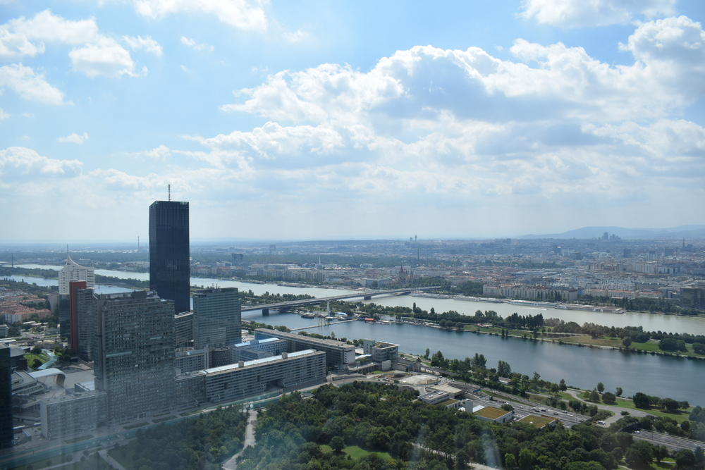 Looking out over the city of Vienna.