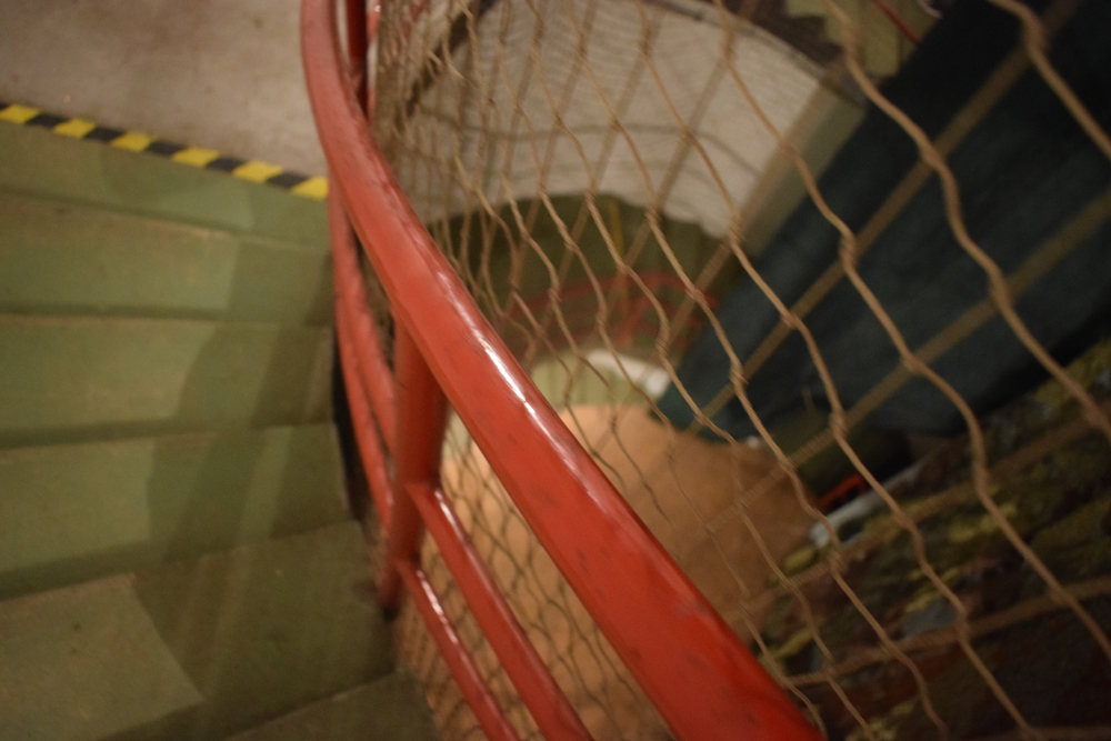 The stairs leading down to the bunker.