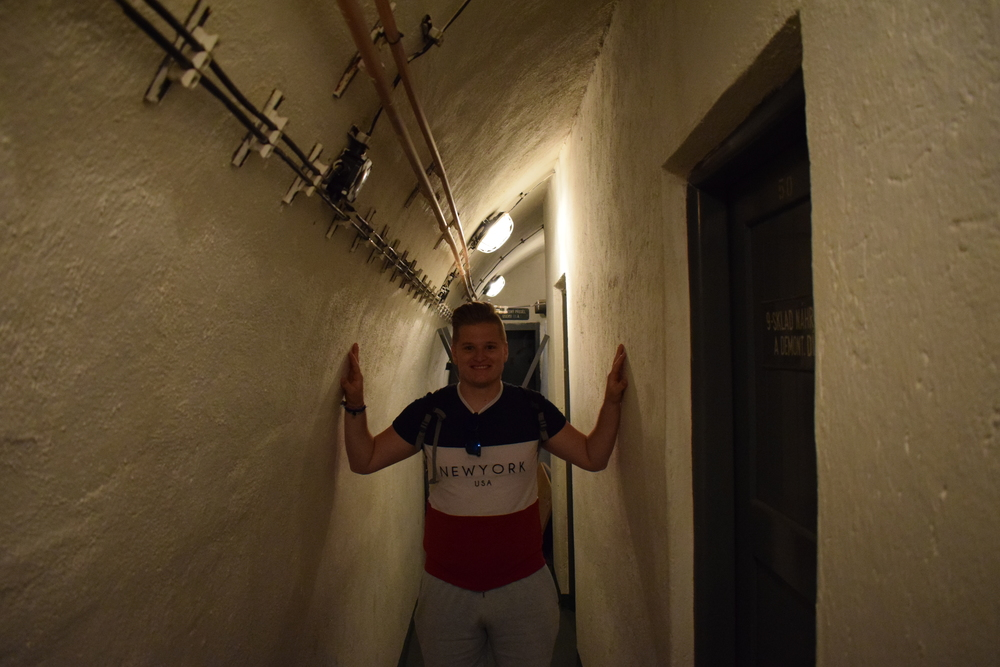 Some of the corridors inside the bunker are claustrophobically narrow.