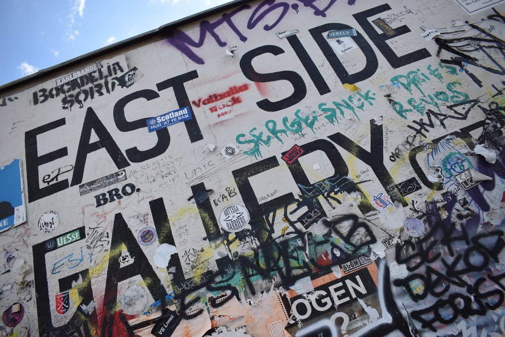 Even the sign for the East Side Gallery is a piece of art.