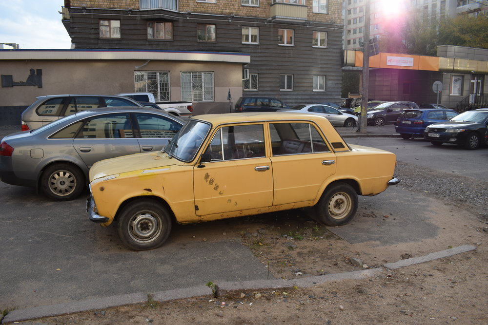 Minsk has a lot of old cars (and old haircuts - I actually saw a mullet there) and add to the city's obscure charm.