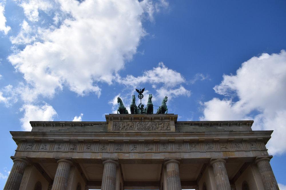 The Brandenburg Gate - a symbol of Berlin.