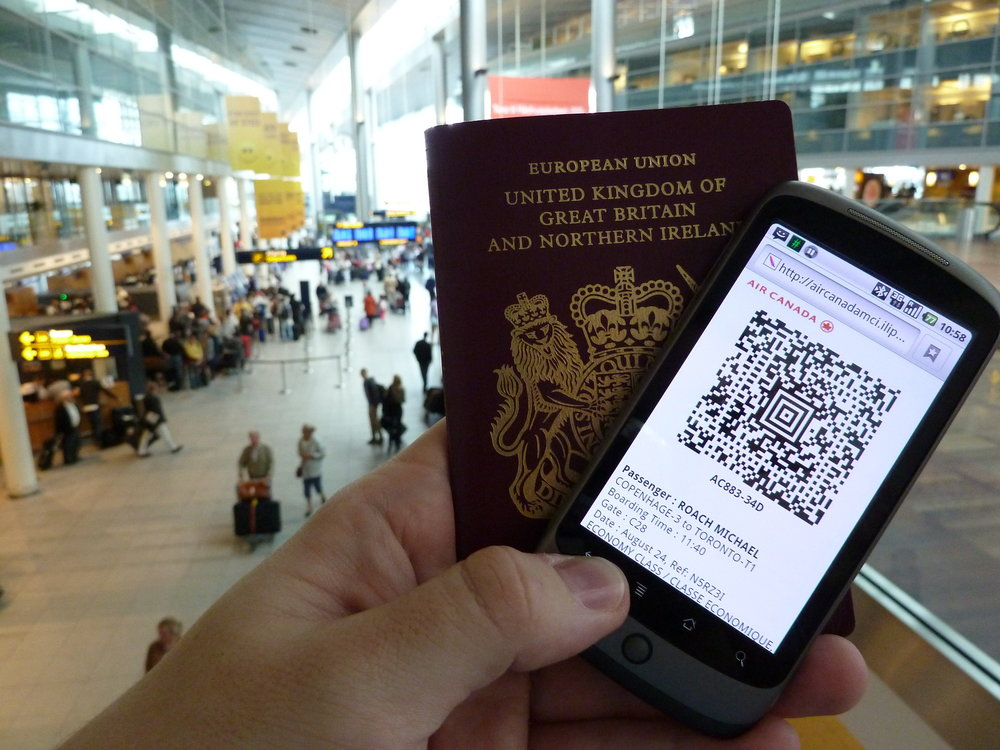 Boarding passes aren't just paper any more, you can use digital versions, too! Image credit:  mroach / Flickr