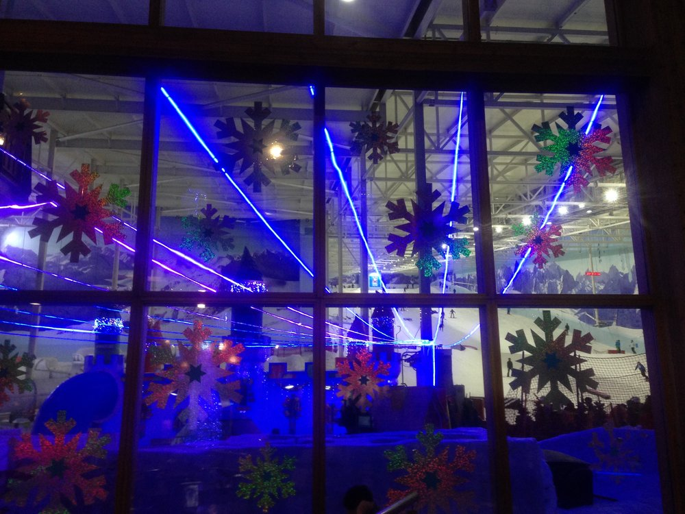 The Chill Factore is the UK's longest indoor ski slope and will be celebrating its 10th anniversary next year. It was also beautifully decorated in time for Christmas.