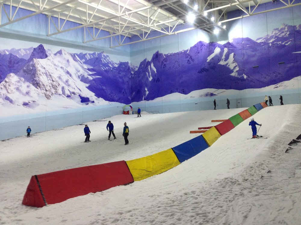 The much smaller, and probably safer, nursery slope at the Chill Factore.