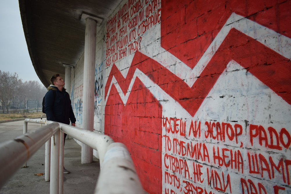 I arrived in Belgrade safe and sound, and one of the first things I checked out was Red Star Stadium.