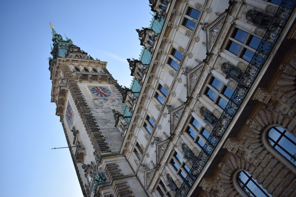 The Rathausmarkt Christmas market stands in the shadow of the remarkable Rathaus (Town Hall).