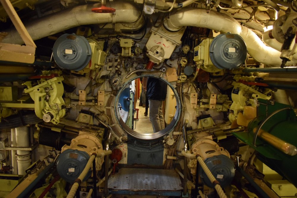 Inside Soviet submarine B-515.
