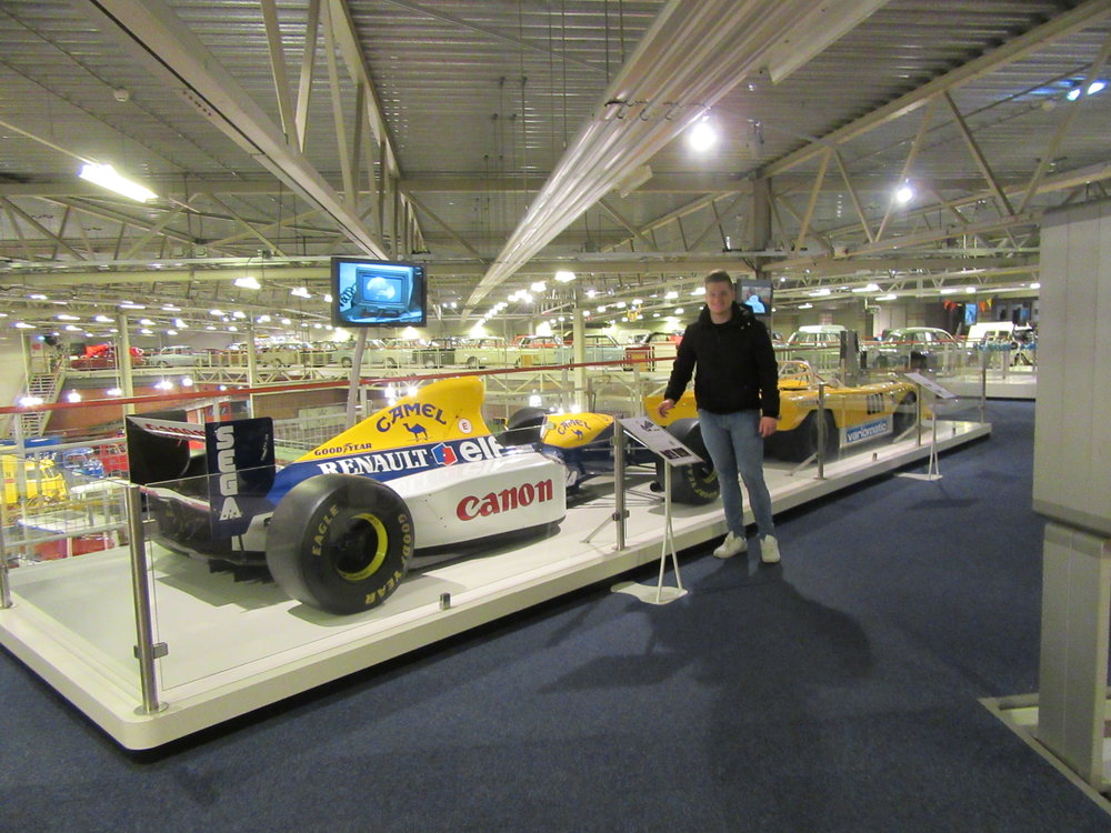 An F1 car test driven by David Coulthard in the 1990s.