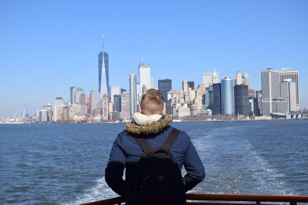 Looking back at Manhattan from the Staten Island Ferry is an experience all by itself.