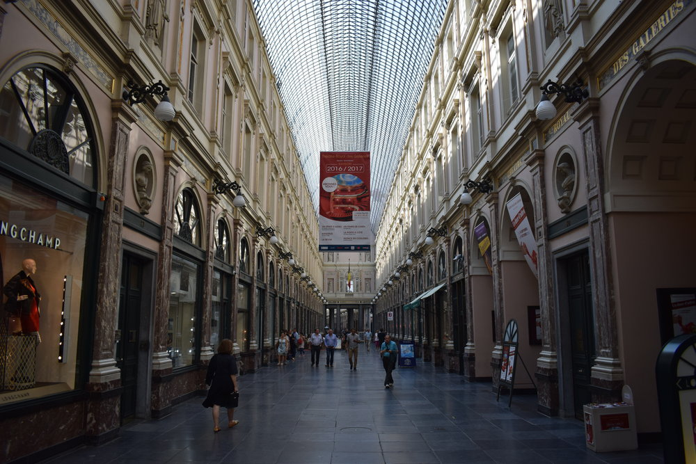 Galeries Royales Saint-Hubert - a glazed shopping arcade in Brussels city centre.