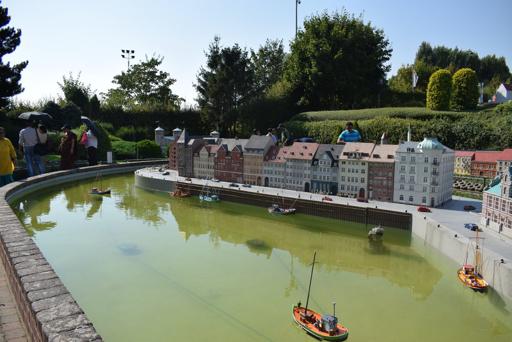 Mini-Europe's recreation of Nyhavn in Copenhagen, Denmark.
