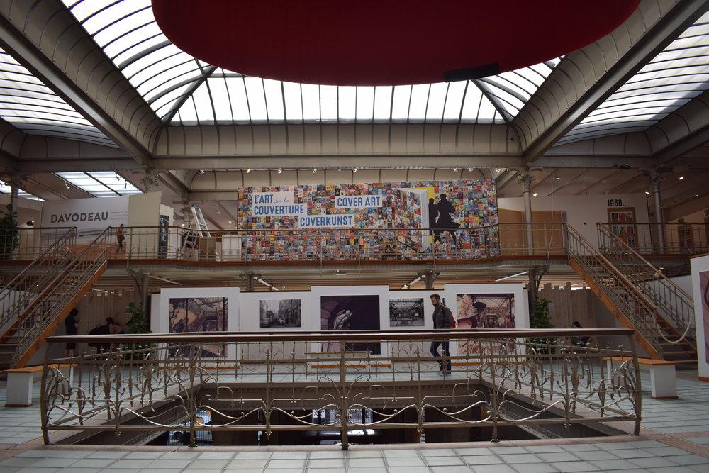 Inside the Belgian Comic Strip Center.