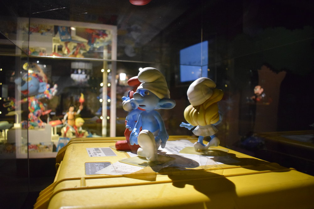 Smurf figurines at the MOOF Museum.