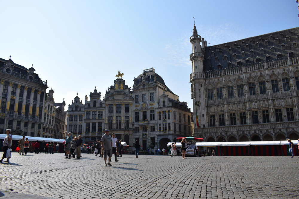 A presumably quiet Grand-Place compared to years past.