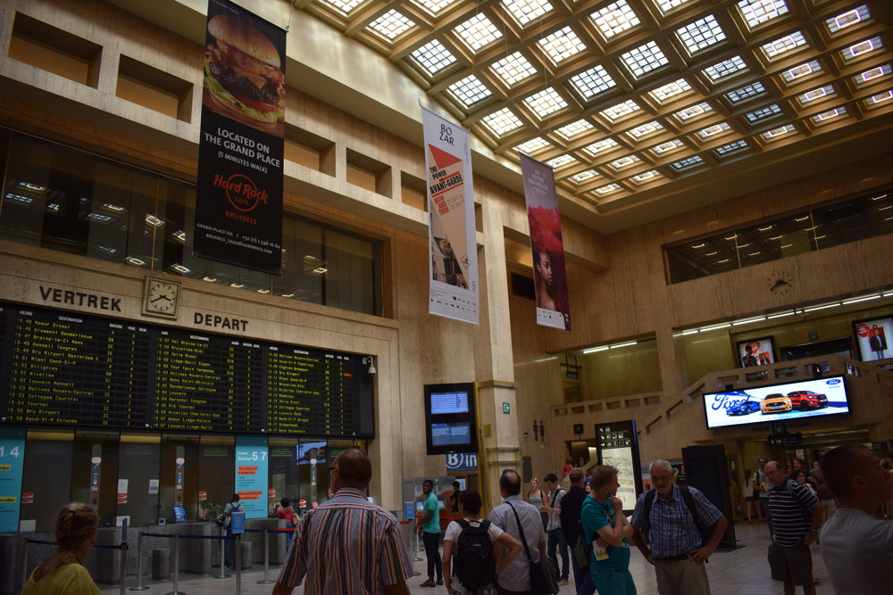In addition to serving international routes, Brussels Central Station has its own Metro stop that visitors can use to get around the city.