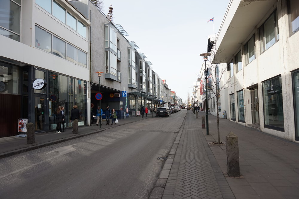 Laugavegur - one of the city's main streets.
