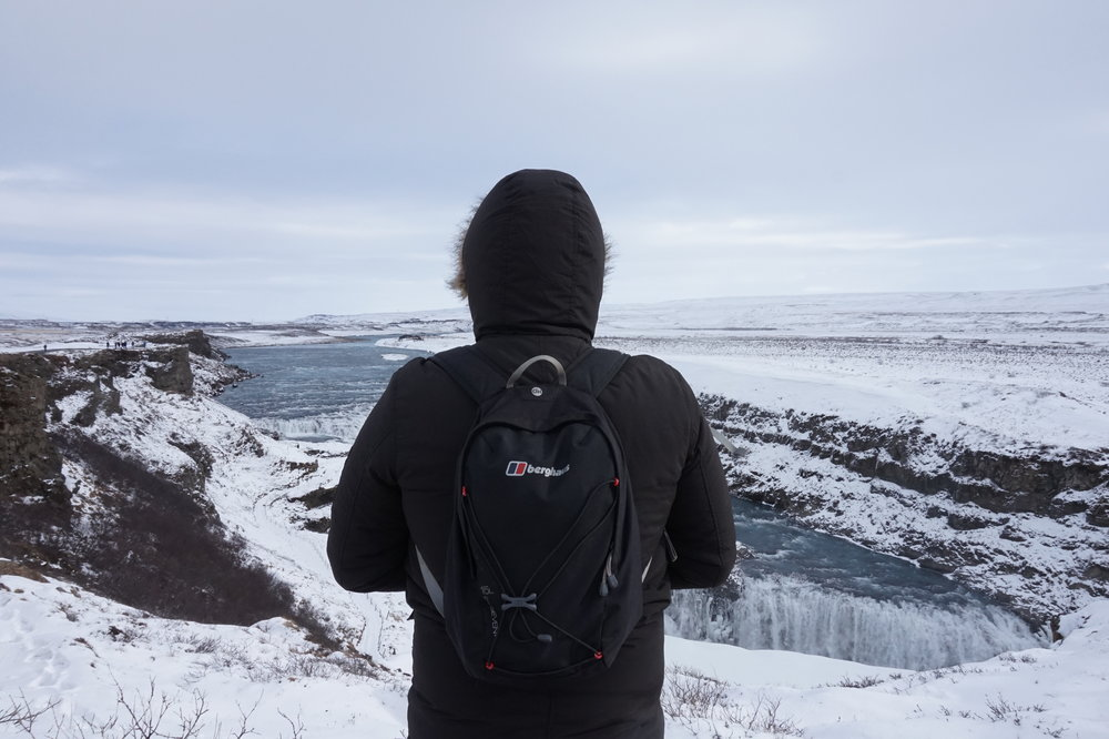 Iceland is a country of natural beauty and this is one of its features - Gullfoss waterfall.