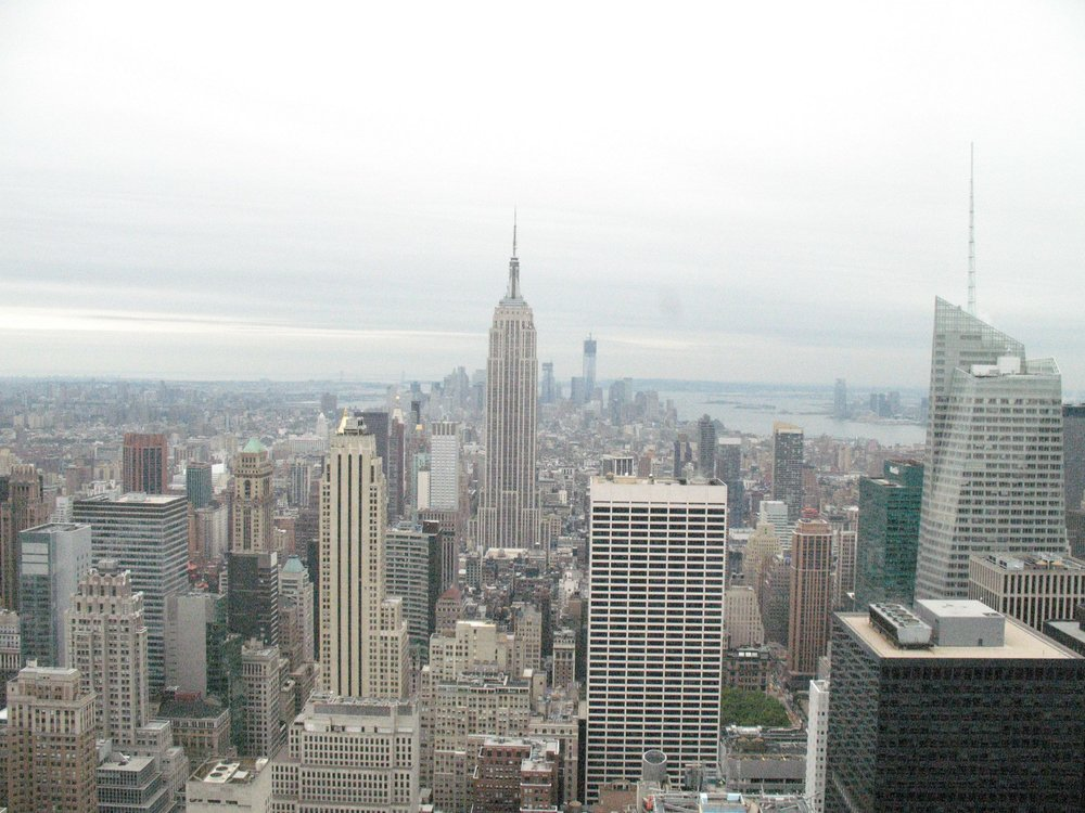 Looking downtown from the Top of the Rock.