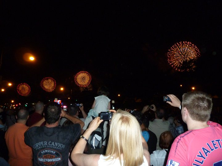 Me on the right and my Mum on the left, taking photos at the Macy's 4th of July Firework Show in 2011.